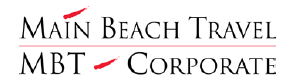 Main Beach Travel and MBT Corporate logo