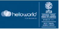 Helloworld with AFTA award logo